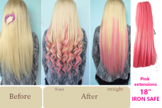 Pink Extensions 18 inches iron safe